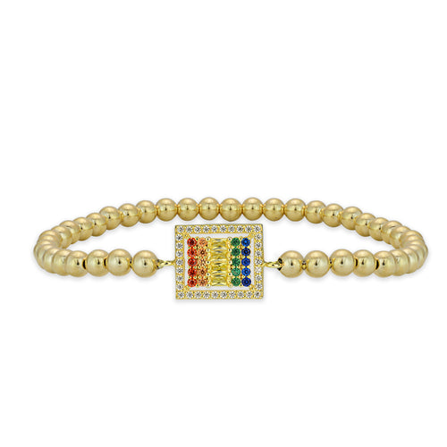 Brielle Multicolor Rectangle Bead Bracelet