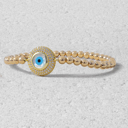 Jocelyn Evil Eye Bead Bracelet