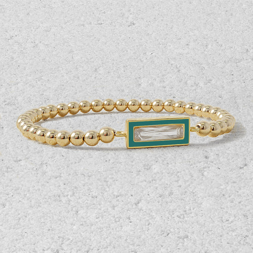 Josephine Rectangle Bead Bracelet
