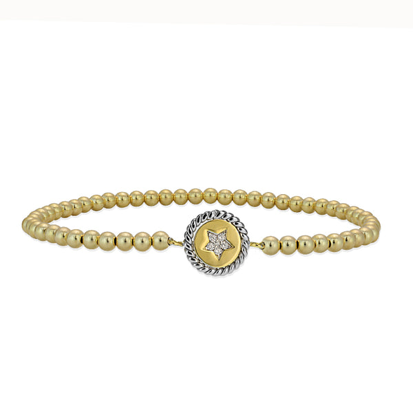 Gracie Star Disc Bead Bracelet