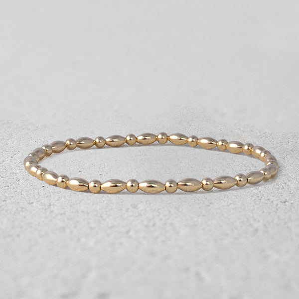 Everly Alternating Oval Beads Bracelet
