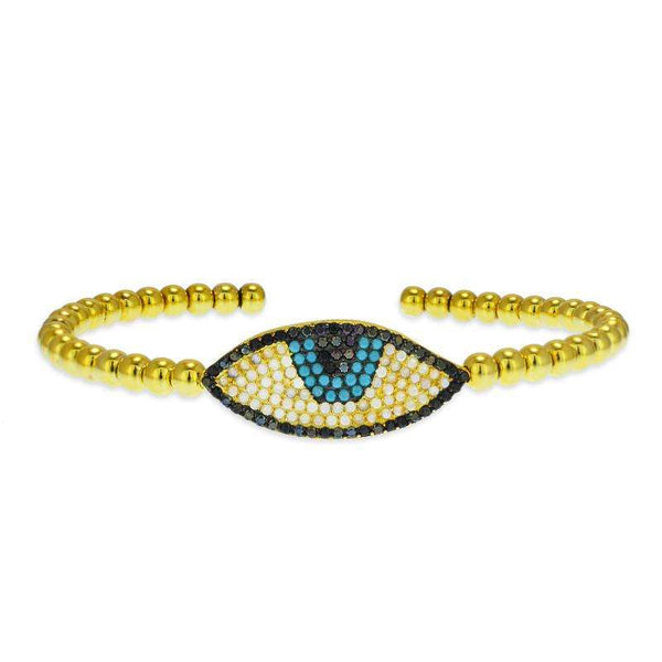 turquoise evil eye bangle
