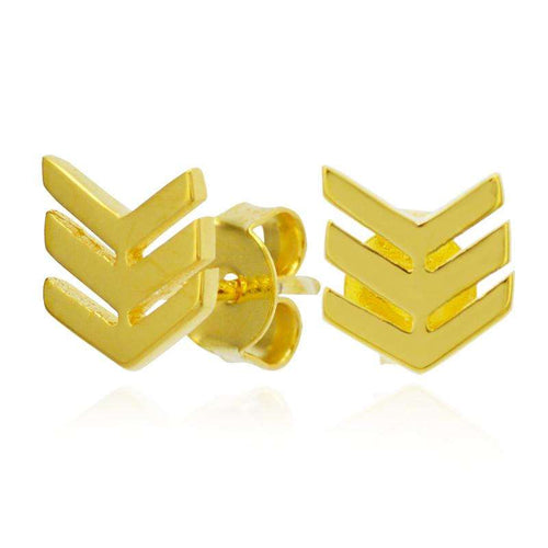 Chevron Earrings gold plated