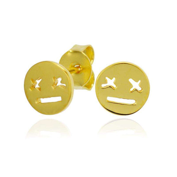 emoji earrings gold