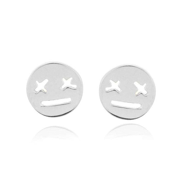 emoji earrings silver