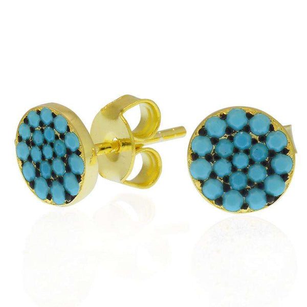 cz earrings turquoise