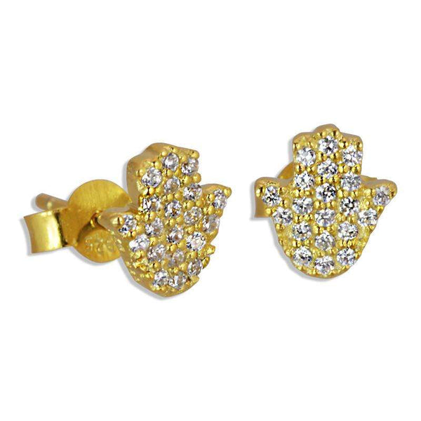 hasma hand earrings gold plated