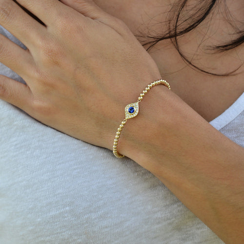 evil eye, evil eye Bracelet, Gold Filled, Gold Filled Bracelet, Sterling Silver Bracelet, Rose Gold Bracelet, gold filled beads, good luck charm
