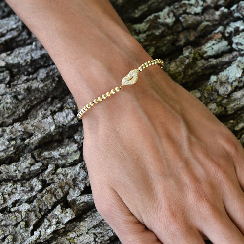 Lips, Lips Bracelet, Gold Filled, Gold Filled Bracelet, Sterling Silver Bracelet, Kiss Bracelet