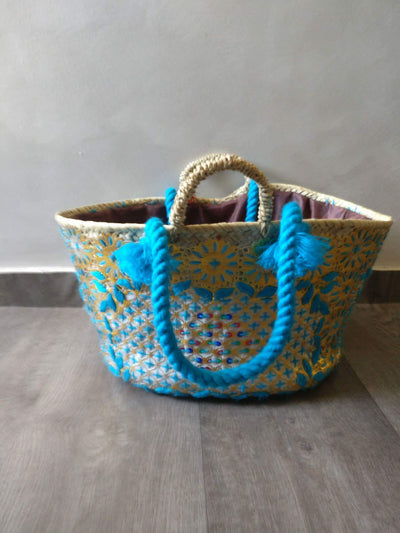 Beach Bag: Grand Sac De Plage et Pic Nic 100% Fait-Main Boutique Maman