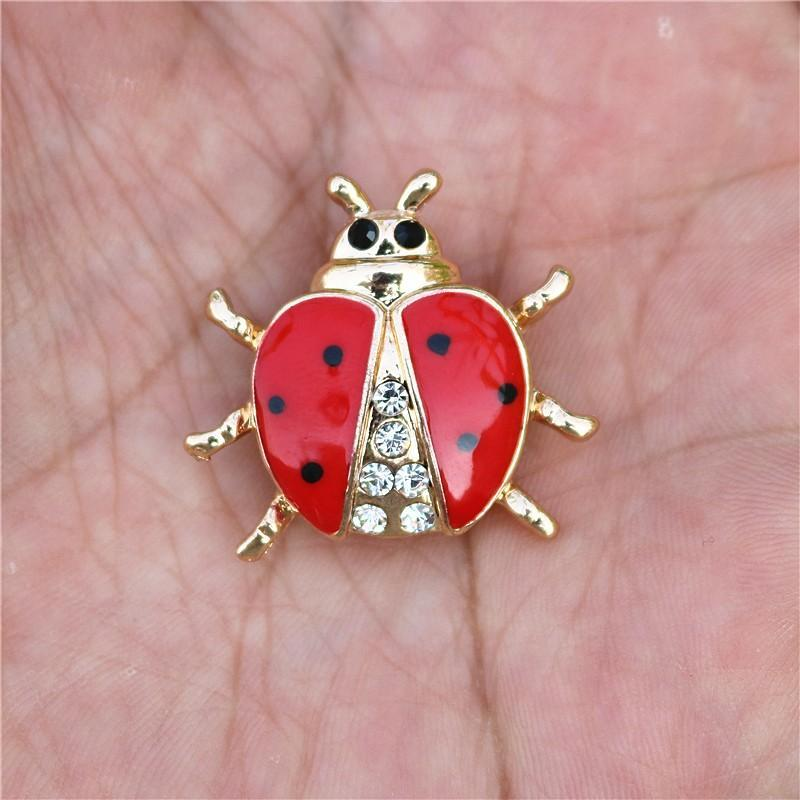 Broches Strass Coccinelle