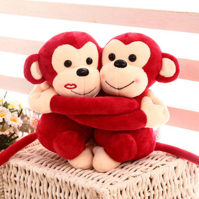 Mignon Couple De Singes - Boutique Maman