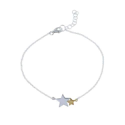 Silver and Gold seeing stars bracelet
