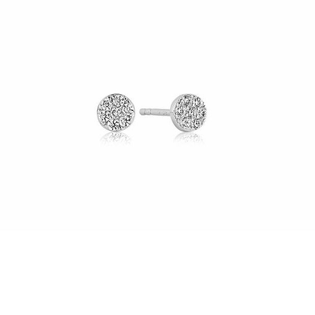 Sif Jakobs Silver CZ cecina round stud earrings