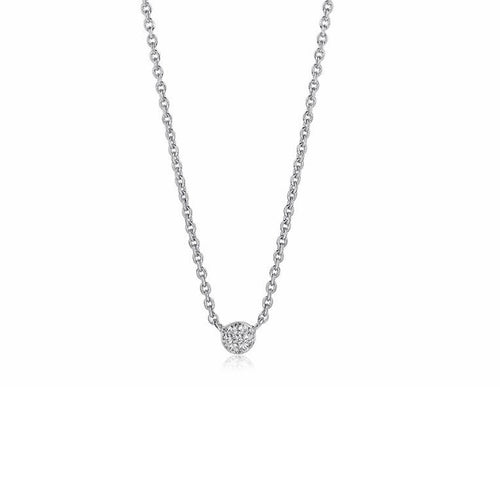 Sif Jakobs Silver CZ cecina round necklace