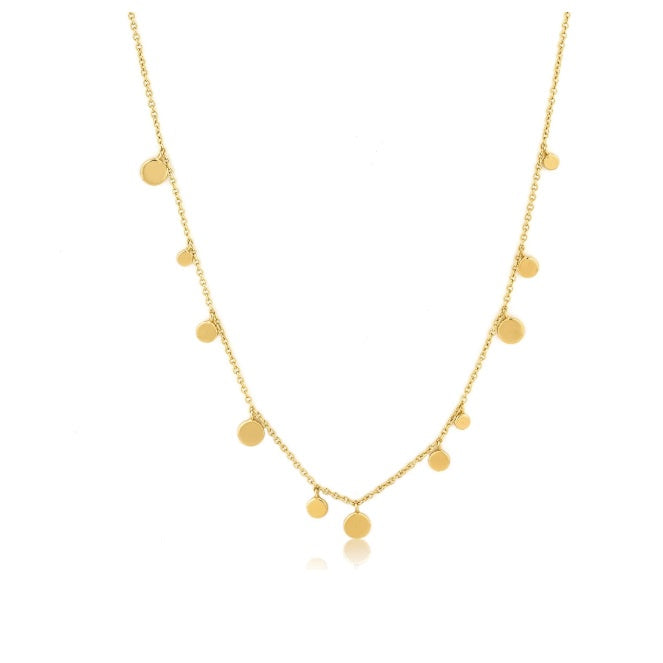 Ania Haie Gold geometry mixed discs necklace
