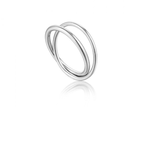Ania Haie Silver modern double wrap ring