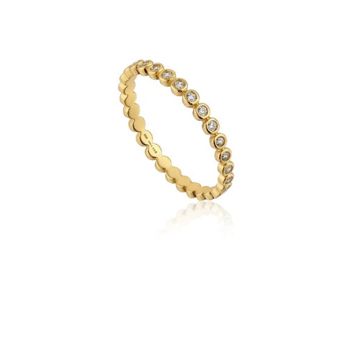 Ania Haie Gold and CZ shimmer half eternity ring