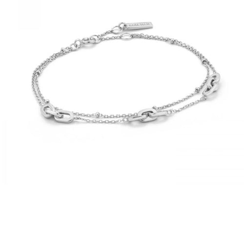 Ania Haie Silver links double bracelet