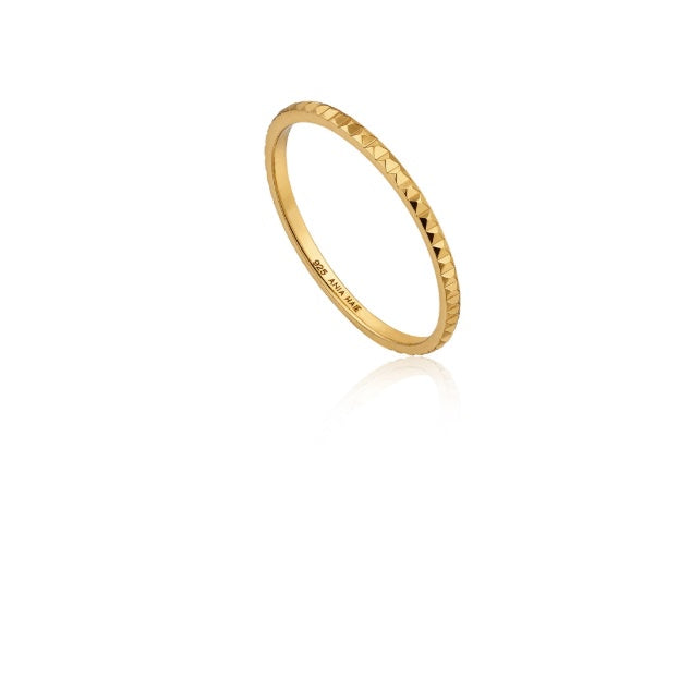 Ania Haie Gold textured band ring
