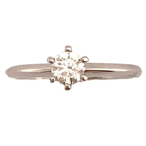 Platinum brilliant cut 0.33ct Diamond ring