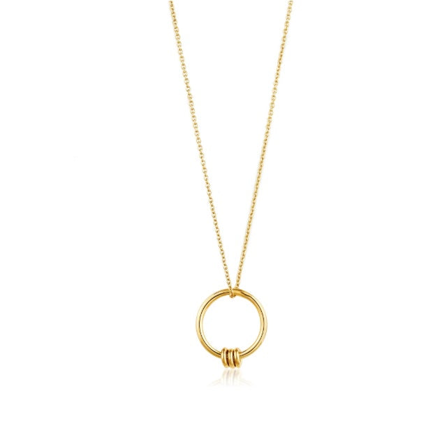 Ania Haie Gold modern circle necklace