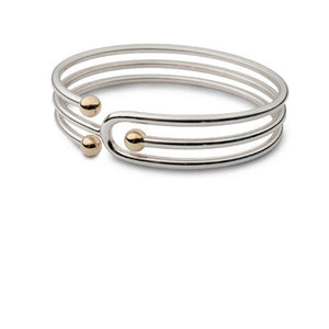 Church House Silver gold bead triple bangle