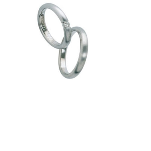Furrer Jacot Platinum tension set diamond ring