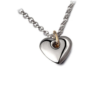 Church House Silver gold chunky heart pendant