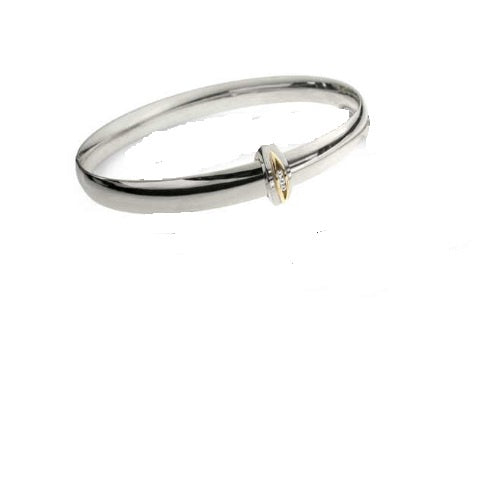 Church House Silver gold diamond toggle bangle