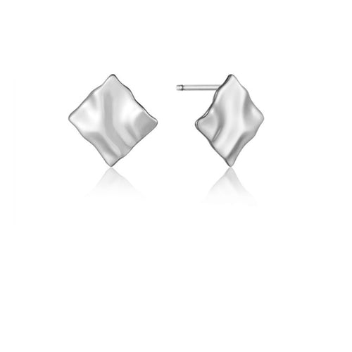 Ania Haie Silver crush mini square stud earrings