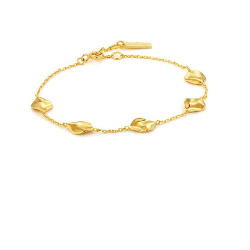 Ania Haie Gold crush multiple discs bracelet