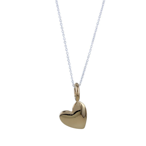 Gold totally devoted heart pendant