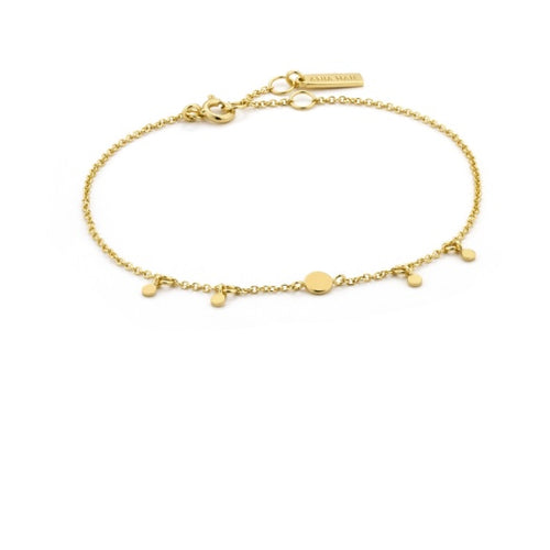 Ania Haie Gold geometry drop discs bracelet