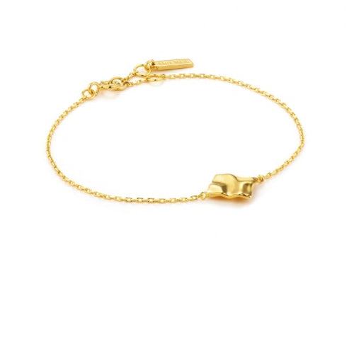 Ania Haie Gold crush square bracelet