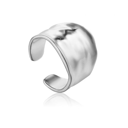 Ania Haie Silver crush wide adjustable ring