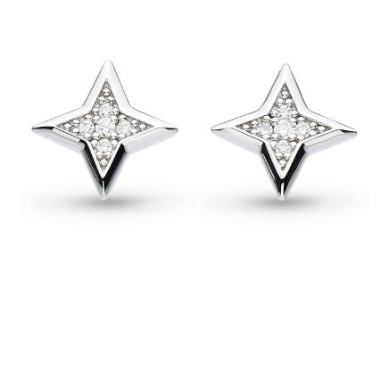 Kit Heath Silver CZ empire astoria starburst stud earrings
