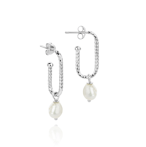 HELIX SPIRAL PEARL DROP EARRINGS
