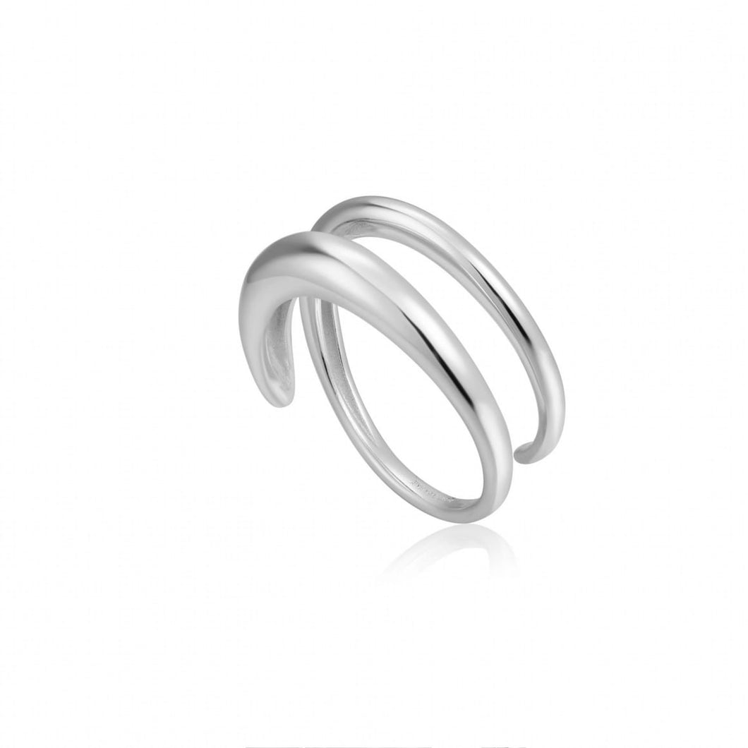 Ania Haie Silver luxe twist ring