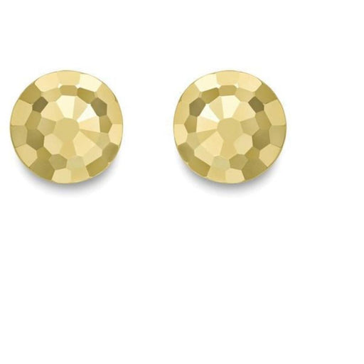 1aff5a647 9ct yellow gold diamond cut button stud earrings