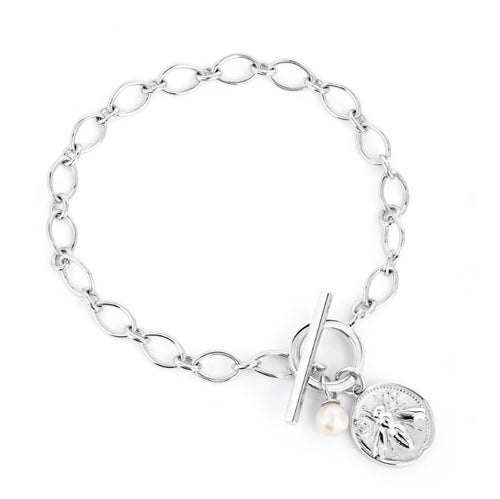 HONEY BEE COIN TOGGLE BRACELET