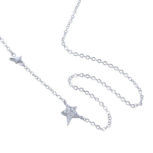 Silver cubic zirconia starry night necklace