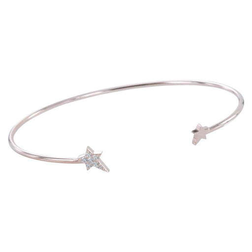Rose Gold Silver cubic zirconia starry night bangle
