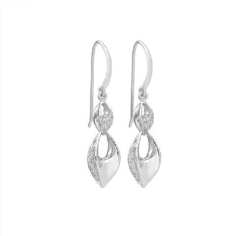 Jorge Revilla Silver seeds hook earrings