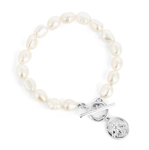 BEECHARMED PEARL BRACELET WITH TOGGLE CLASP
