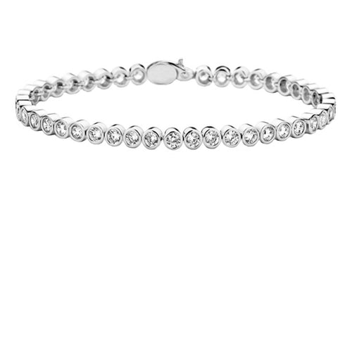 Amore Silver CZ rubover tennis bracelet