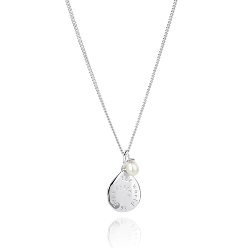 THE WORLD IS YOUR OYSTER MICRO NECKLACE