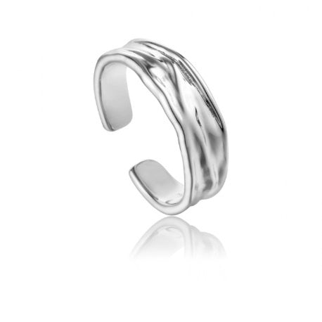Ania Haie Silver crush adjustable ring