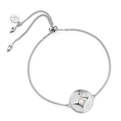 Claudia Bradby Silver pearl Northern star compass bracelet