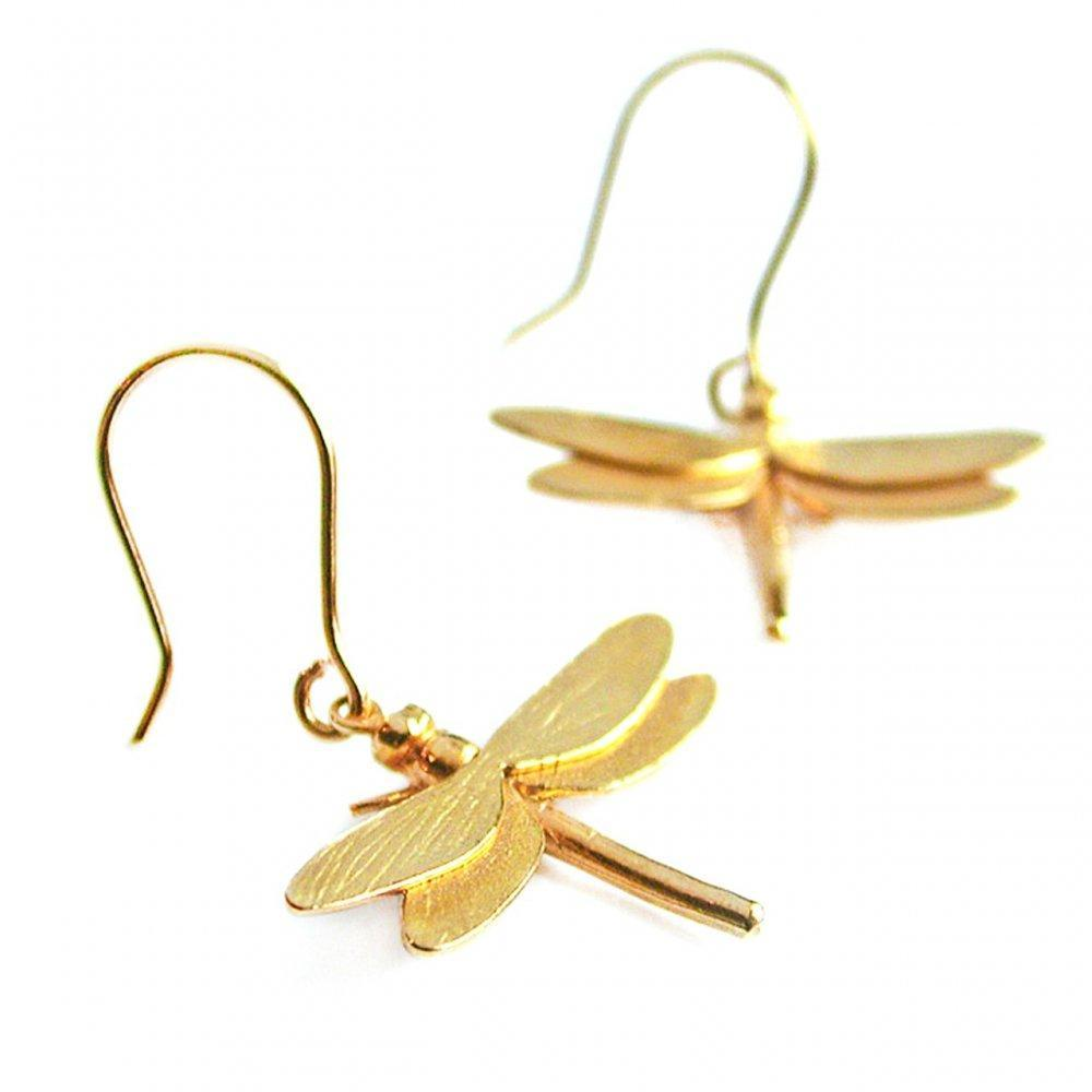 Alex Monroe Earrings Alex Monroe gold dragonfly hook earrings